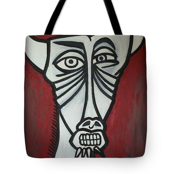 Bull Tote Bag by Thomas Valentine