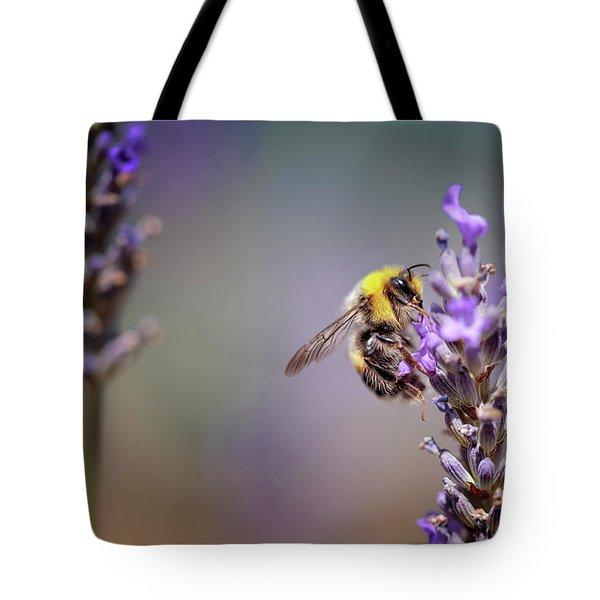 Bumblebee And Lavender Tote Bag