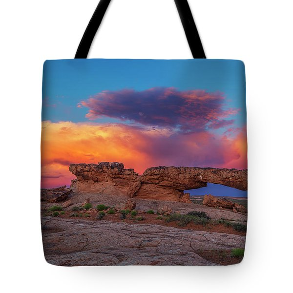 Burning Skies Tote Bag