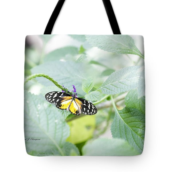Tote Bag featuring the photograph Tiger Butterfly by Richard J Thompson