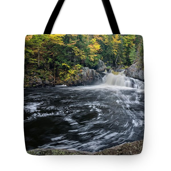 Tote Bag featuring the photograph Buttermilk Falls Gulf Hagas Me. by Michael Hubley