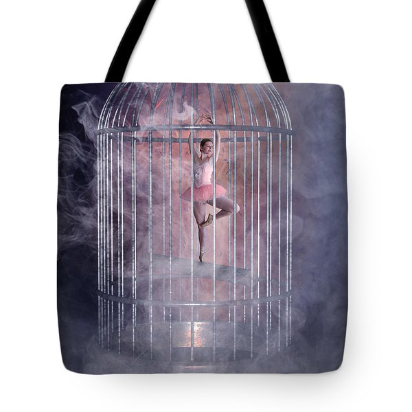 Caged Ballerina Tote Bag