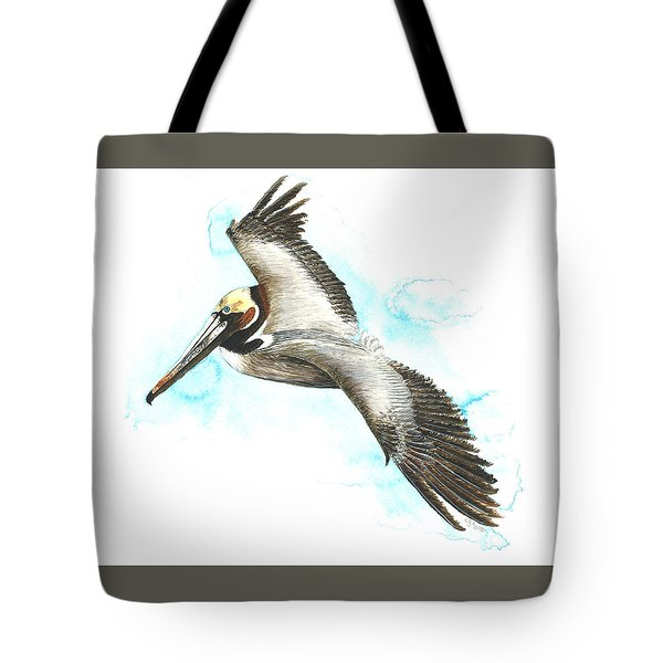 California Brown Pelican Tote Bag