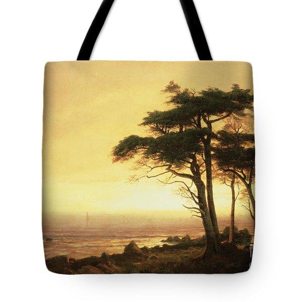 California Coast Tote Bag by Albert Bierstadt