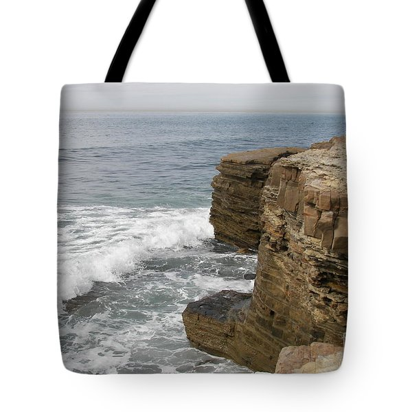 Tote Bag featuring the photograph California Seascape by Carol  Bradley