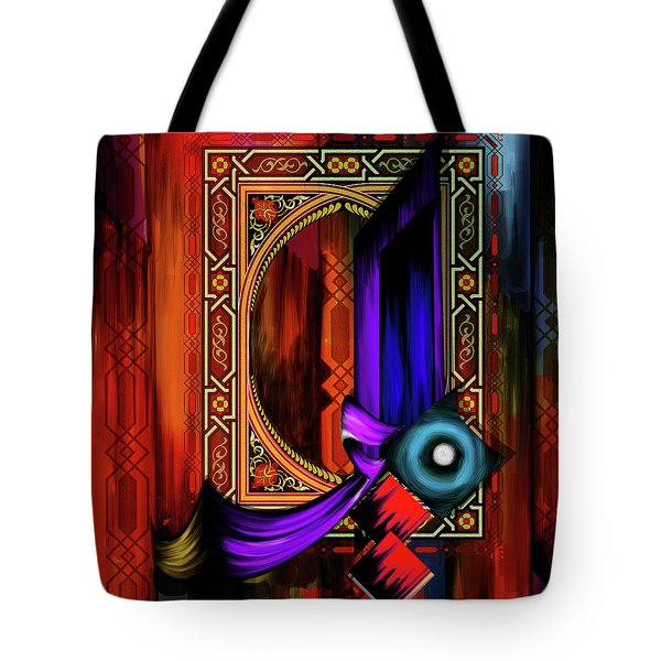 Tote Bag featuring the painting Calligraphy 100 2 by Mawra Tahreem