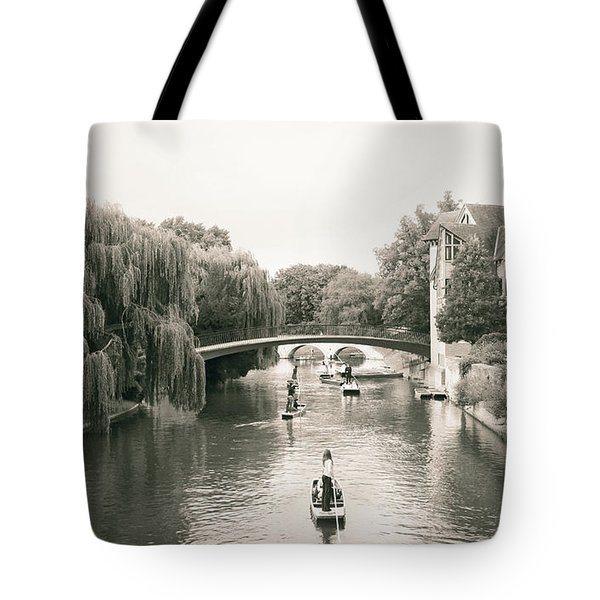 Cambridge River Punting Tote Bag