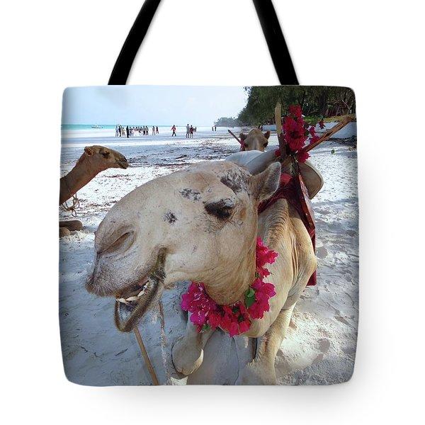 Camel On Beach Kenya Wedding3 Tote Bag