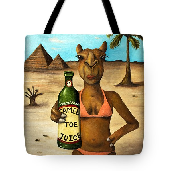 Camel Toe Juice Tote Bag by Leah Saulnier The Painting Maniac