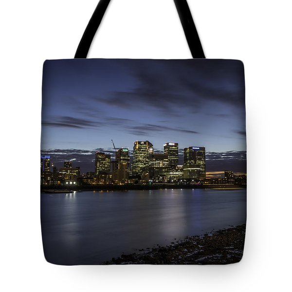 Tote Bag featuring the photograph Canary Wharf by Ryan Photography