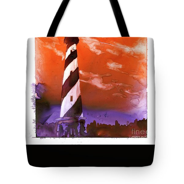 Tote Bag featuring the painting Cape Hatteras Lighthouse by Ryan Fox
