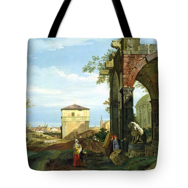 Capriccio With Motifs From Padua Tote Bag by Canaletto