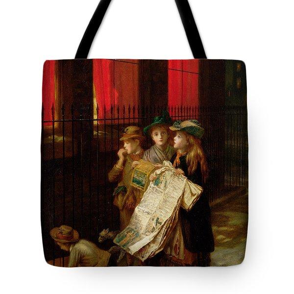 Carol Singers Tote Bag by Augustus Edward Mulready