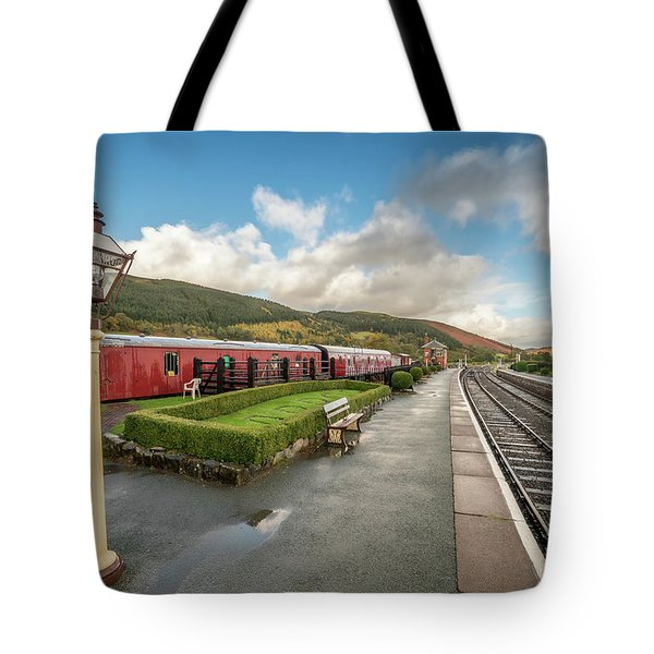 Tote Bag featuring the photograph Carrog Railway Station by Adrian Evans