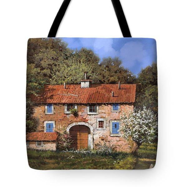 casolare a primavera Tote Bag by Guido Borelli