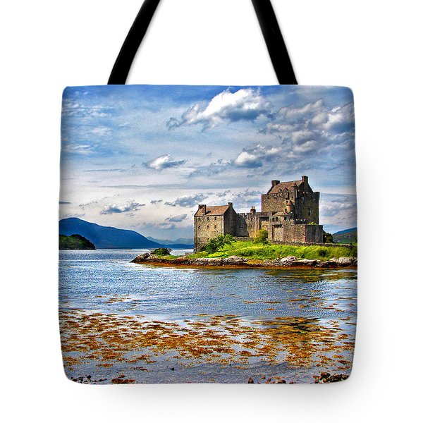Castle In The Loch Tote Bag