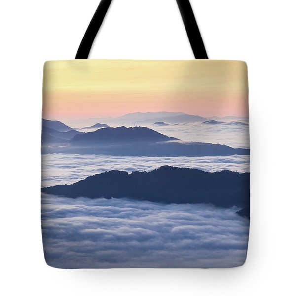 Cataloochee Valley Sunrise Tote Bag