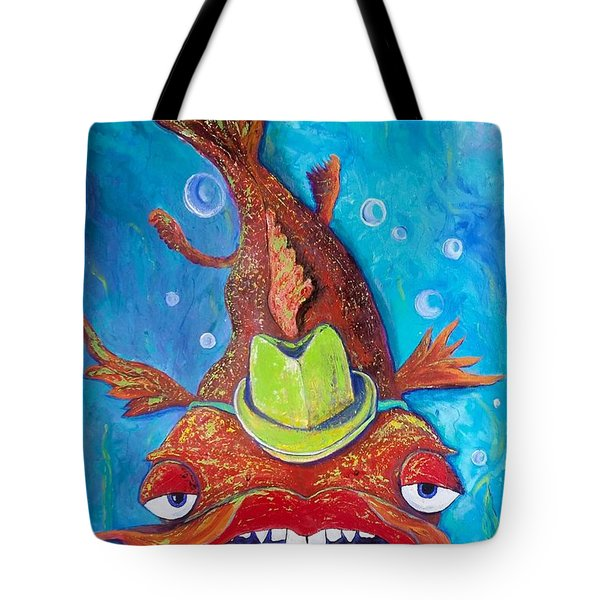 Catfish Clyde Tote Bag by Vickie Scarlett-Fisher