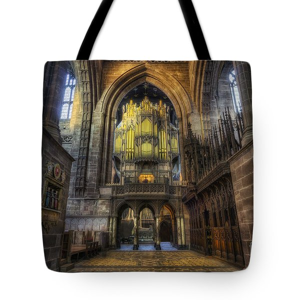 Cathedral Organ Tote Bag by Ian Mitchell