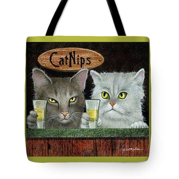 Catnips... Tote Bag by Will Bullas