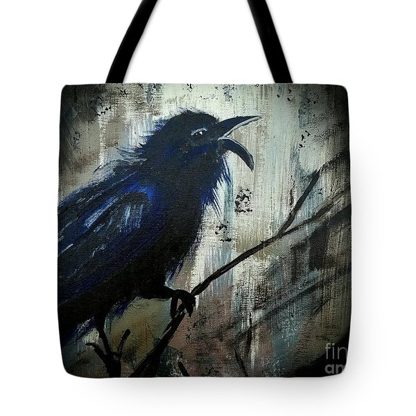 Cawing The Storm Tote Bag