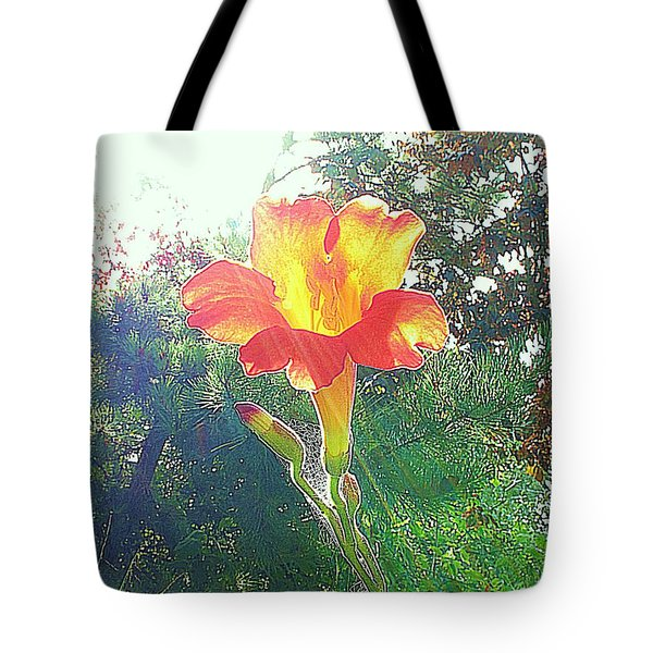 Cayuga Park Flower Tote Bag
