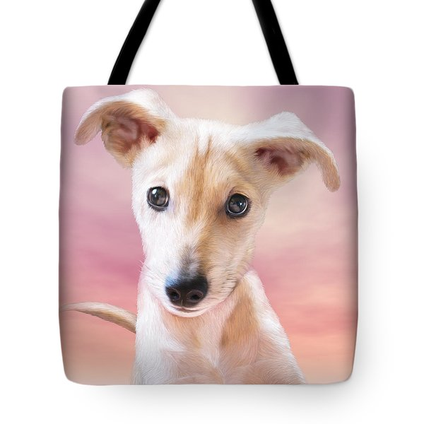 Tote Bag featuring the mixed media Ceecee by Carol Cavalaris