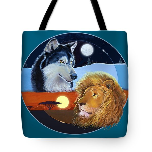 Tote Bag featuring the mixed media Celestial Kings Circular by J L Meadows