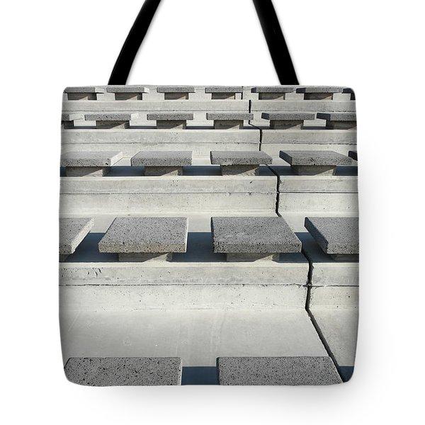 Cement Seats Tote Bag by Gaspar Avila