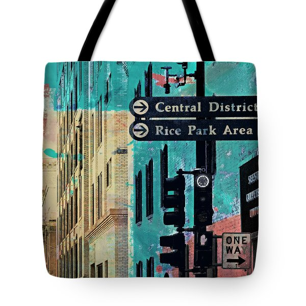 Tote Bag featuring the photograph Central District by Susan Stone