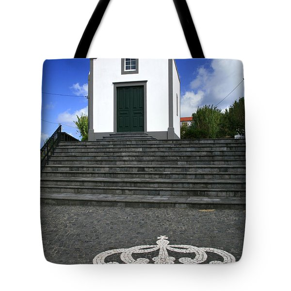 Chapel In The Azores Tote Bag by Gaspar Avila