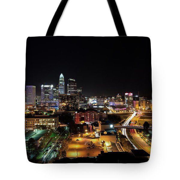 Tote Bag featuring the photograph Charlotte Skyline by Serge Skiba