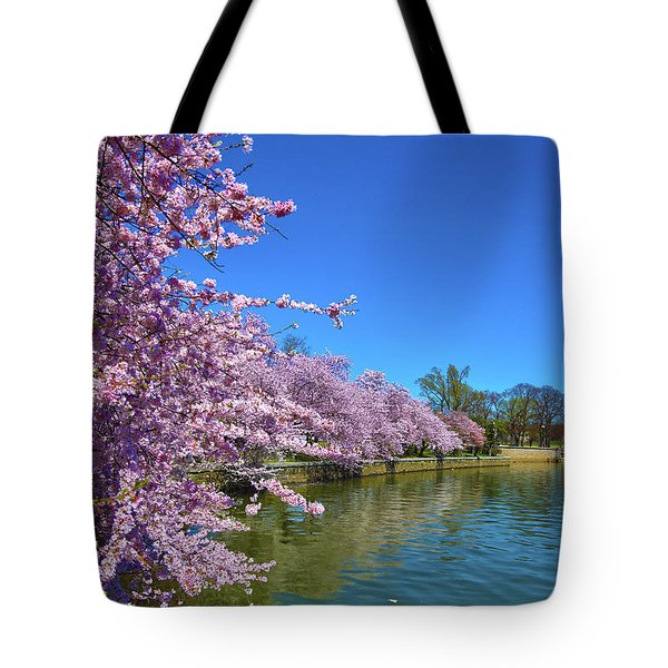 Tote Bag featuring the photograph Cherry Blossoms by Mitch Cat