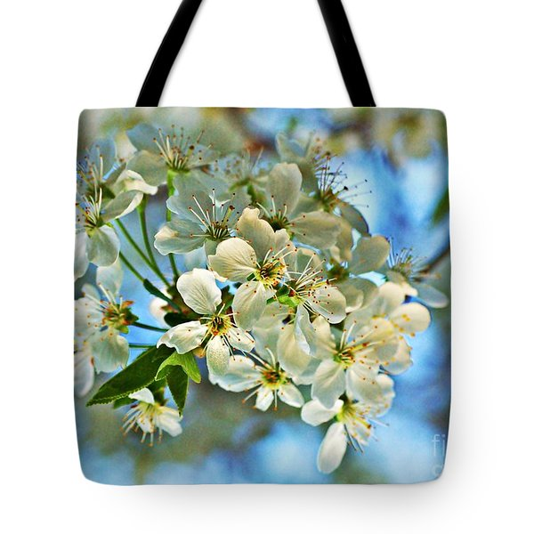 Cherry Tree Flowers Tote Bag