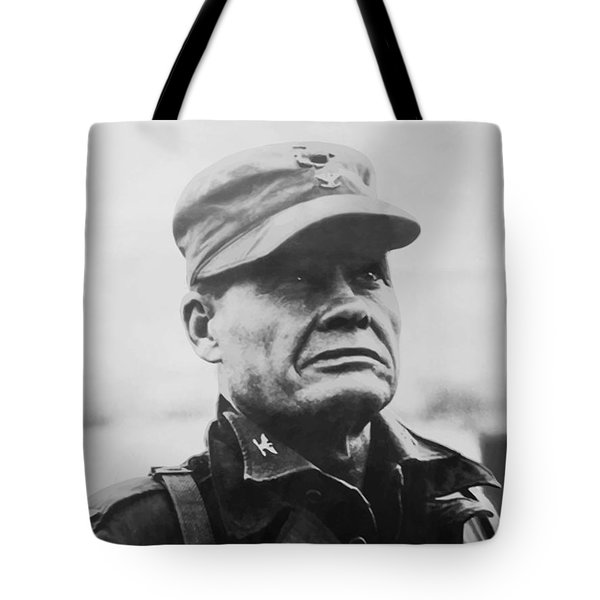 Chesty Puller Tote Bag by War Is Hell Store