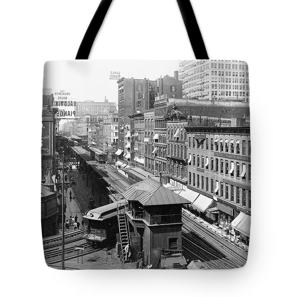 Chicago's Wabash Avenue  1907 Tote Bag