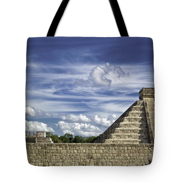 Chichen Itza, El Castillo Pyramid Tote Bag
