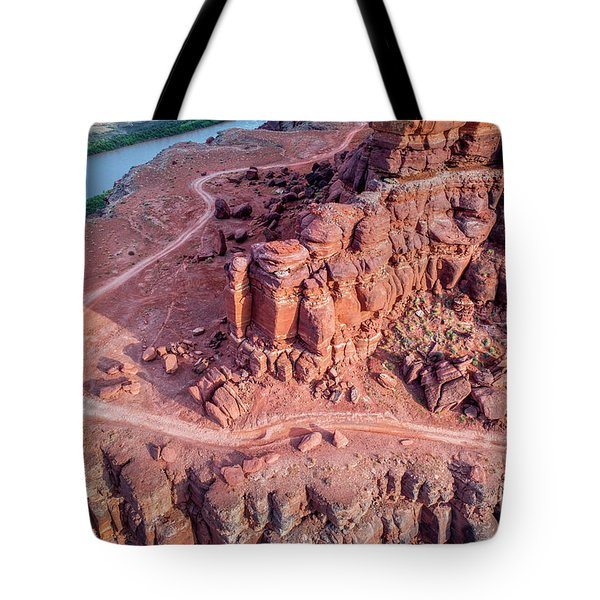 Chicken Corner Trail And Colorado River Tote Bag