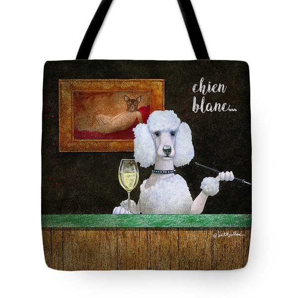 Chien Blanc... Tote Bag