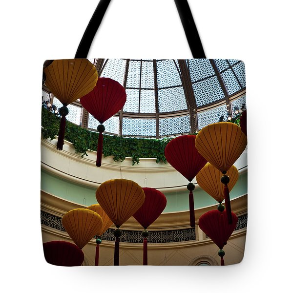 Chinese Lanterns Tote Bag by Rae Tucker