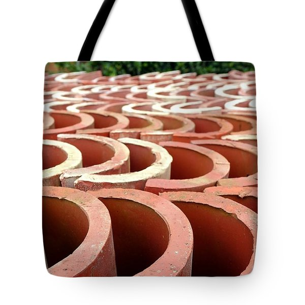 Chinese Traditional Roof Tiles Tote Bag by Yali Shi