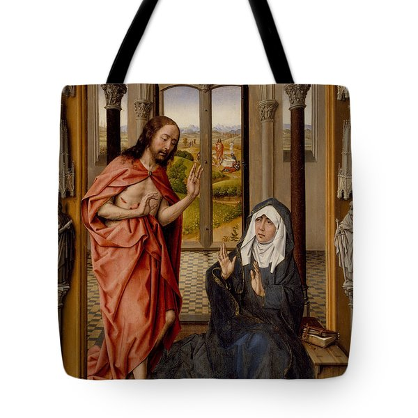 Christ Appearing To His Mother Tote Bag