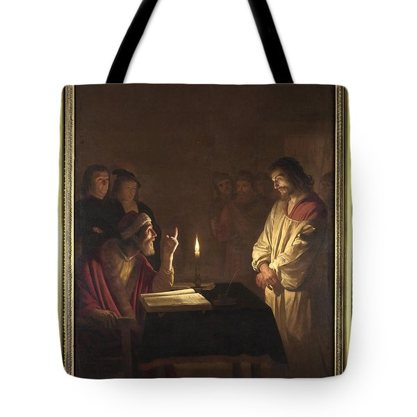 Christ Before The High Priest Tote Bag