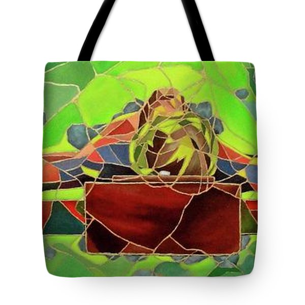 Christ In Stained Glass Tote Bag