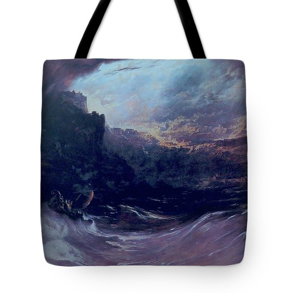 Christ Stilleth The Tempest Tote Bag