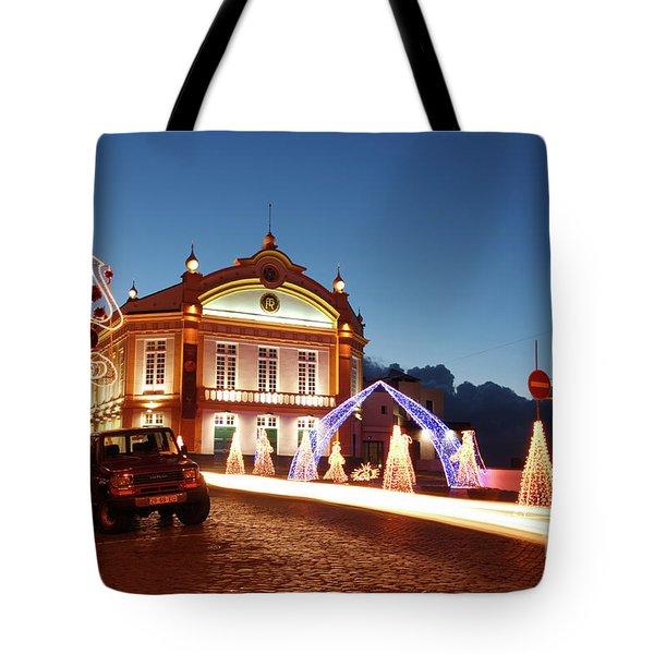 Christmas In Ribeira Grande Tote Bag by Gaspar Avila