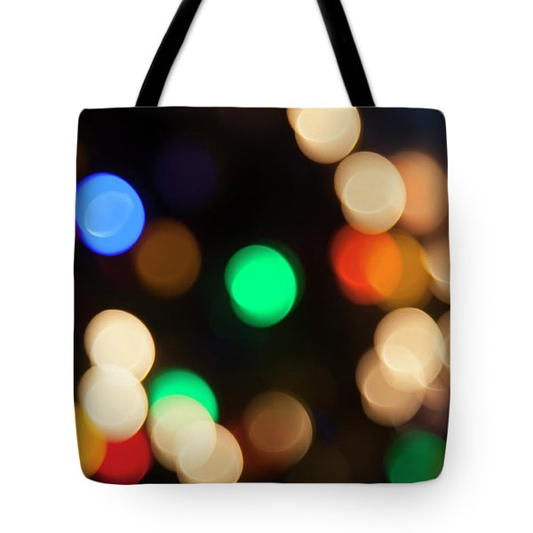 Tote Bag featuring the photograph Christmas Lights by Susan Stone