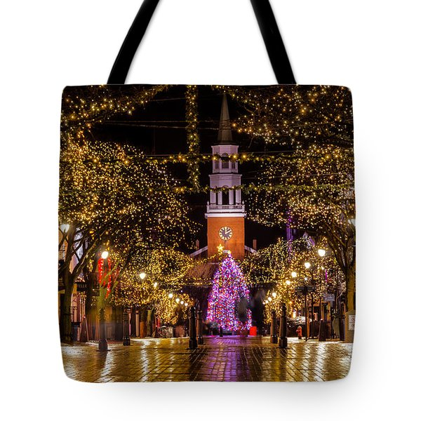 Christmas Time On Church Street. Tote Bag
