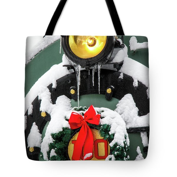 Christmas Train At Pacific Junction Tote Bag