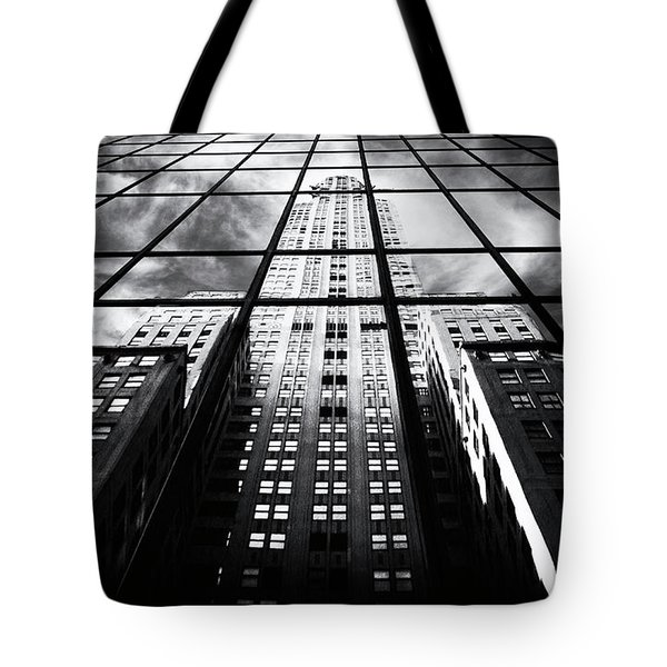 Tote Bag featuring the photograph Chrysler Reflections by Jessica Jenney